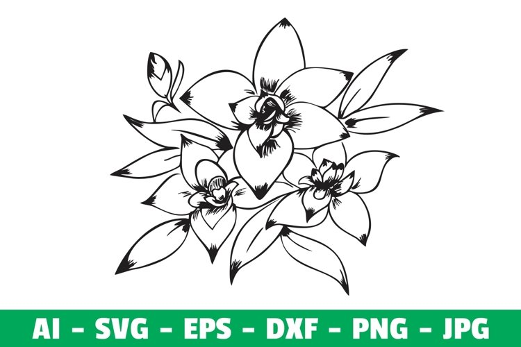 Flower Clipart Craft example image 1