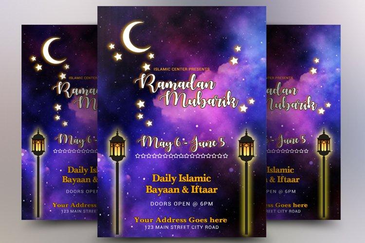 Ramadaan Mubarik Flyer