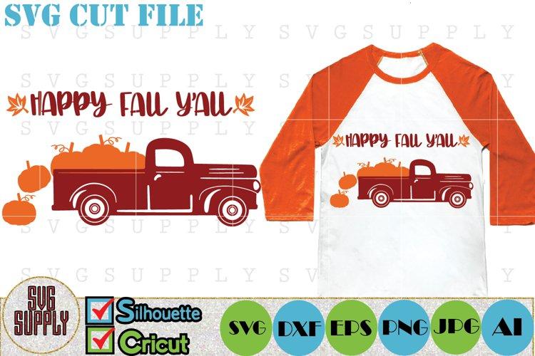 Happy Fall Yall Truck SVG Cut File