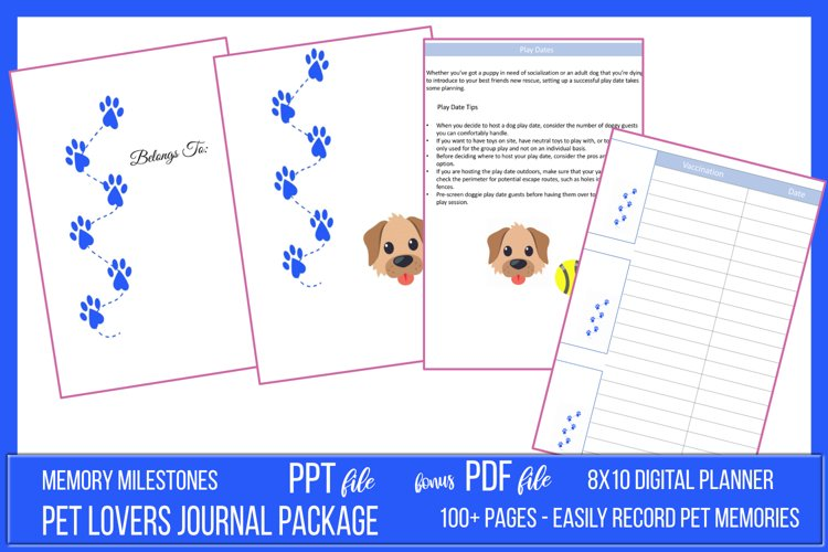Pet Lovers Journal Package example image 1
