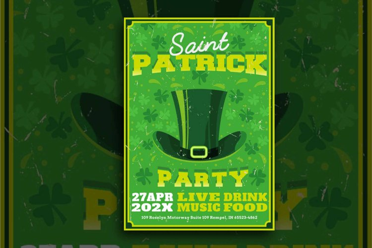 St Patrick Day Hat Flyer example image 1