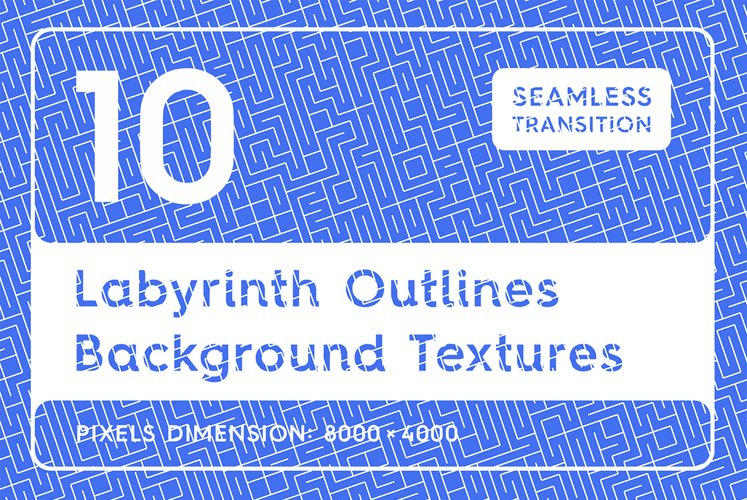 10 Labyrinth Outlines Backgrounds example image 1
