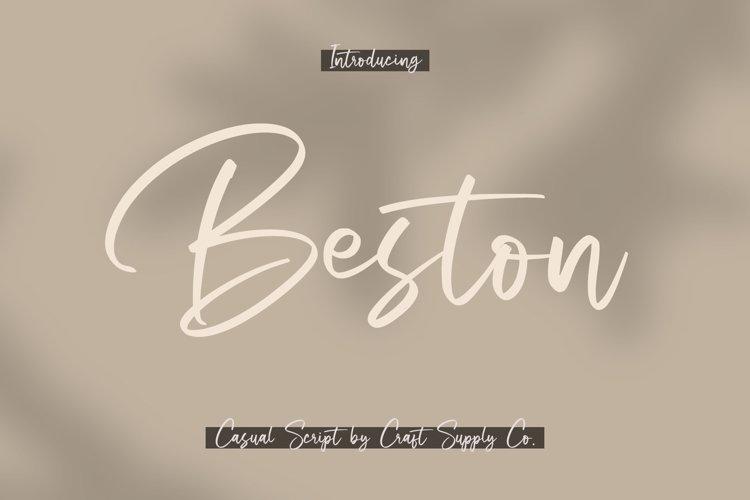 Beston - Casual Script Font example image 1