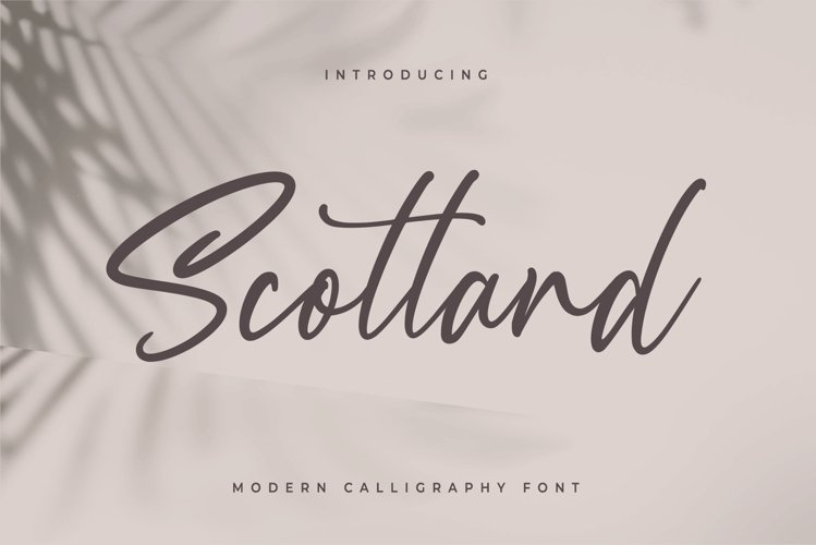 Scotland - Modern Calligraphy font - Free Font Of The Week Font