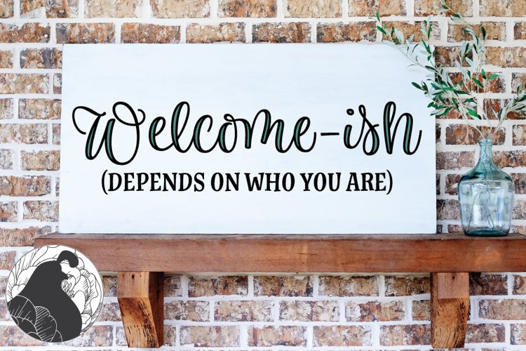 Welcome-ish SVG example image 1