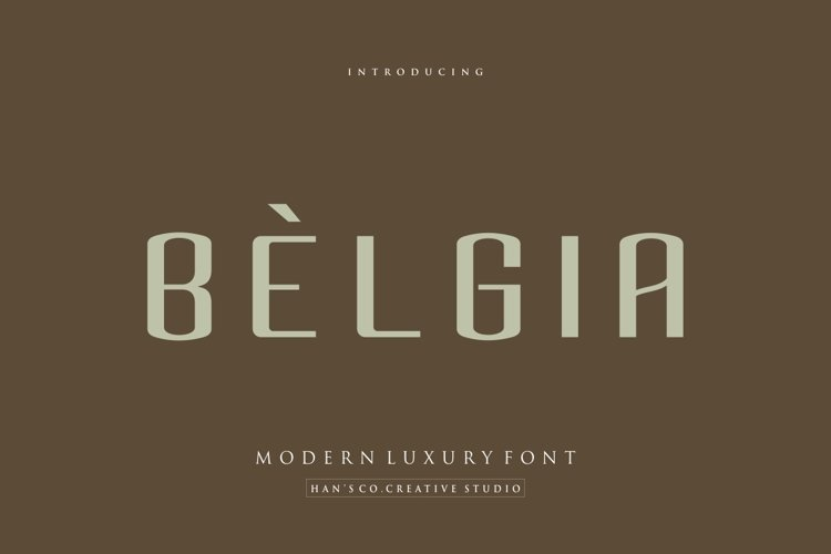 Belgia Font example image 1