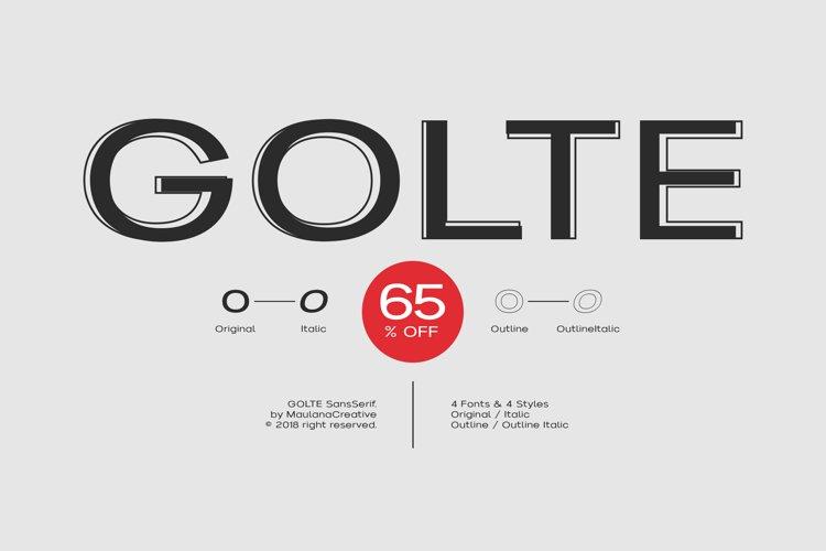 Golte Sans Font - 65 OFF example image 1