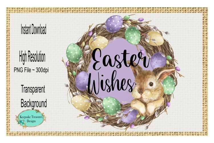 Easter Wishes, Sublimation Design