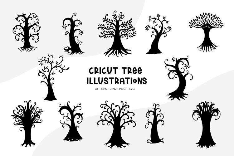 Cricut Tree Illustrations