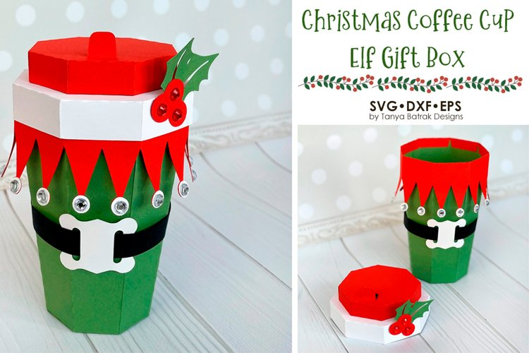 Christmas Elf Coffee Cup Box
