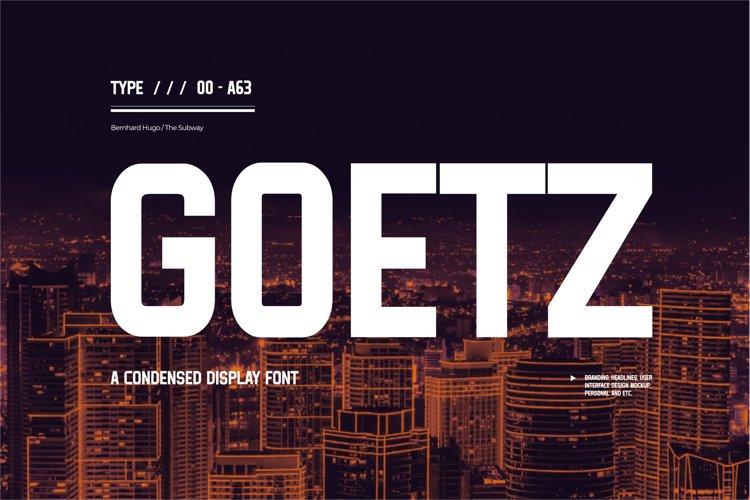Goetz Typeface example image 1