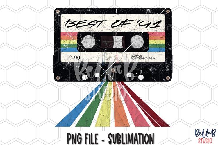 Best Of 91 - Retro Mixtape Sublimation Design