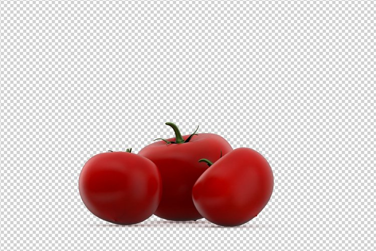 Isometric Vegetables 3D isolated render