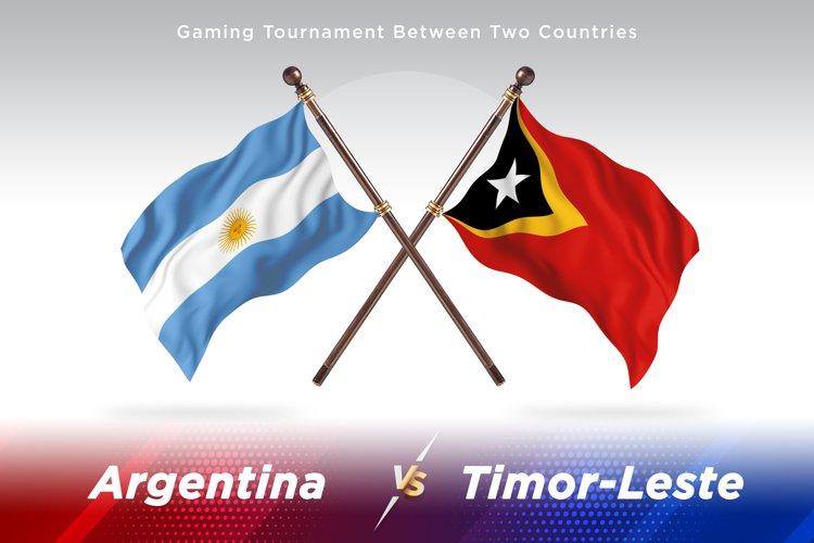 Argentina vs Timor-Leste Two Flagsc example image 1