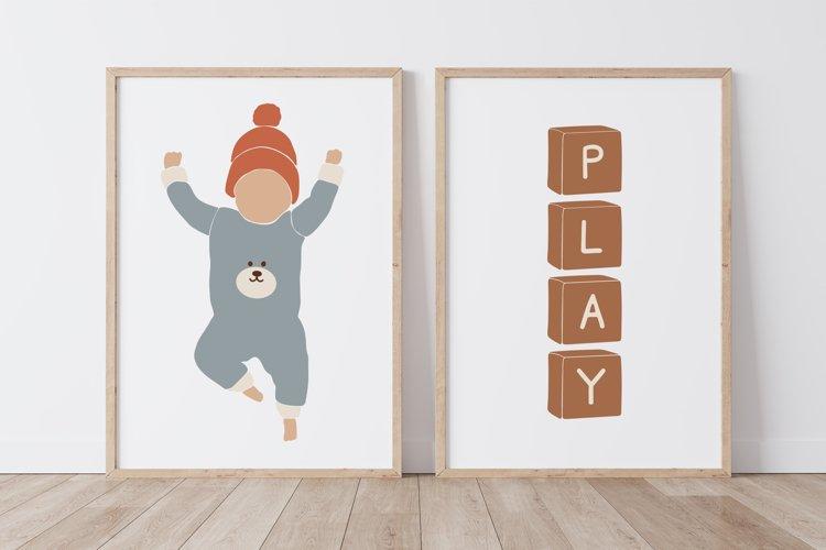 BOHO Kids Print, Nursery Wall Art
