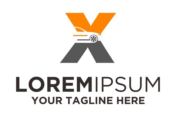 Letter X Automotive Car Logo example image 1