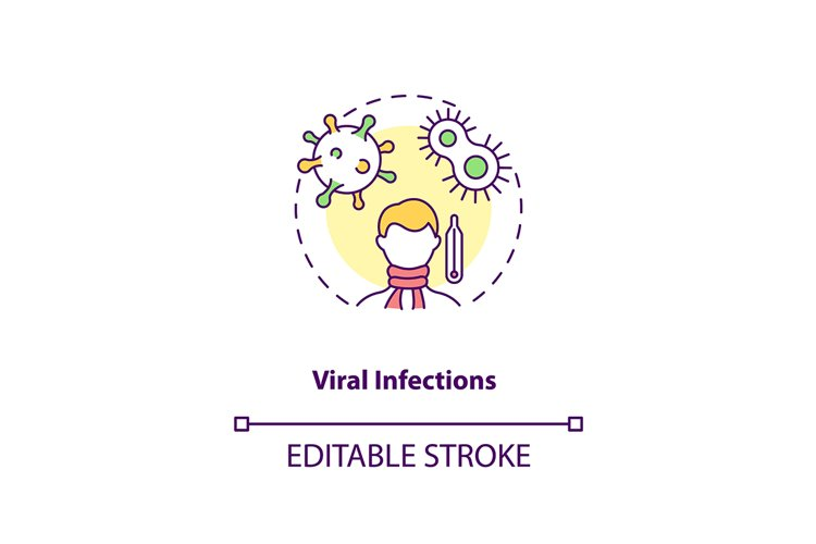 Viral infections concept icon example image 1