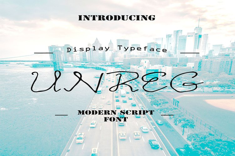 Unreg Display Font example image 1
