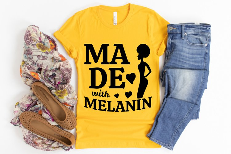 Made With Melanin SVG, Afro Lady SVG files for Cricut example image 1