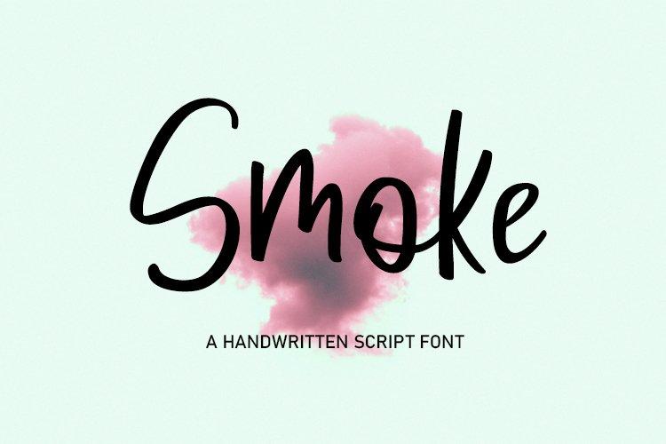Smoke | Handwritten Script Font