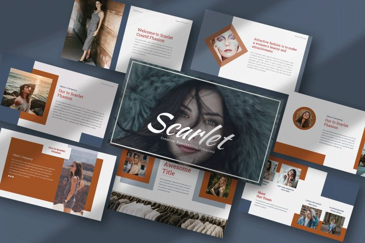 Scarlet - Creative google Slides Template example image 1