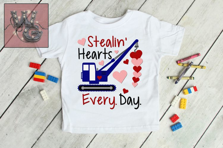 Stealin Hearts Crane SVG DXF PNG EPS Commercial