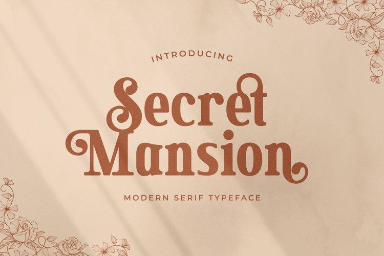Secret Mansion - Modern Elegant Serif example image 1
