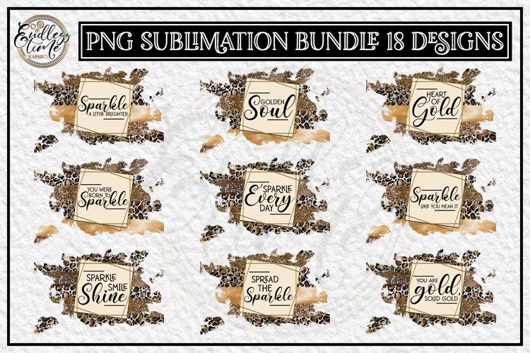 Motivational Quote Sublimation Bundle | 18 Leopard Designs