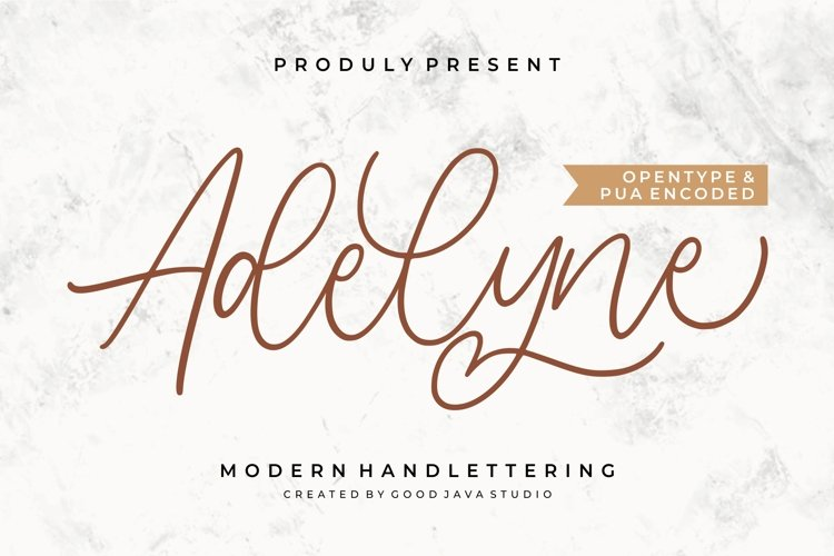 Adelyne - Modern Handlettering example image 1