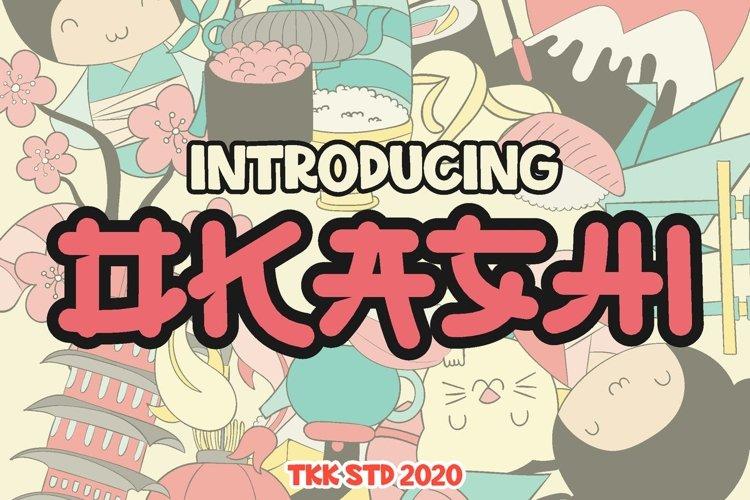 OKASHI - Japanese Font example image 1