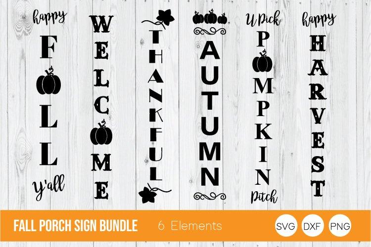 Fall Porch Sign Bundle, Halloween SVG, Fall Bundle SVG example image 1