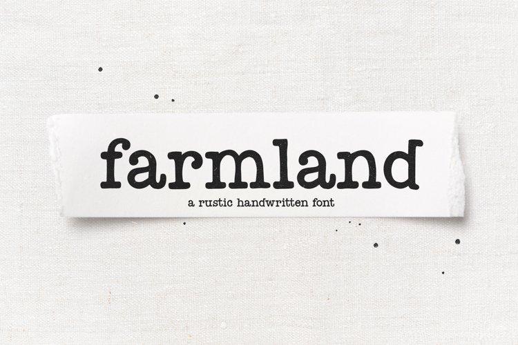 Farmland - A Farmhouse Typewriter Font
