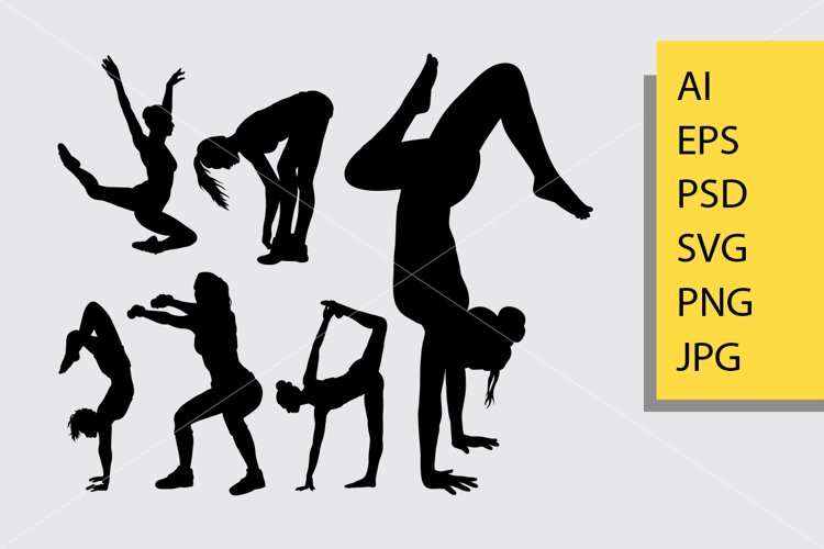 Fitness sport silhouette example image 1