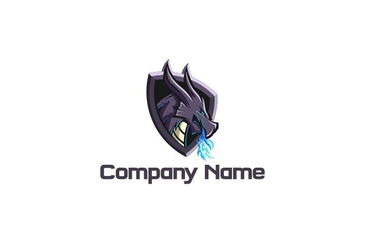 Dragon Shield Blue Fire Esports Logo example image 1