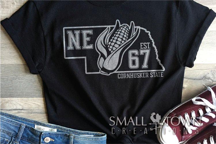 Nebraska, Cornhusker State, Corn cob, PRINT, CUT & DESIGN