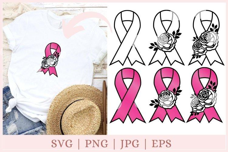 Awareness Ribbon SVG, Breast Cancer svg, ribbon clipart example image 1