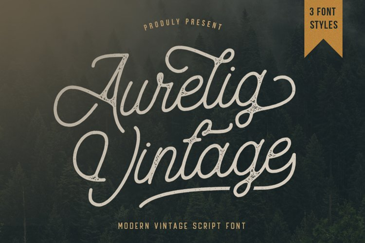 Aurelig Vintage Script example
