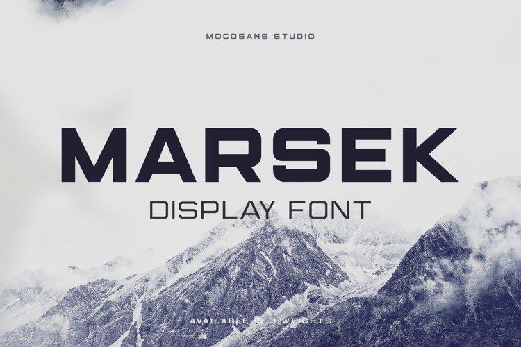 (NEW) Marsek - A Solid Display Font