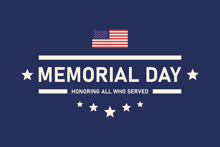 USA Memorial Day vector banner. Remember and honor