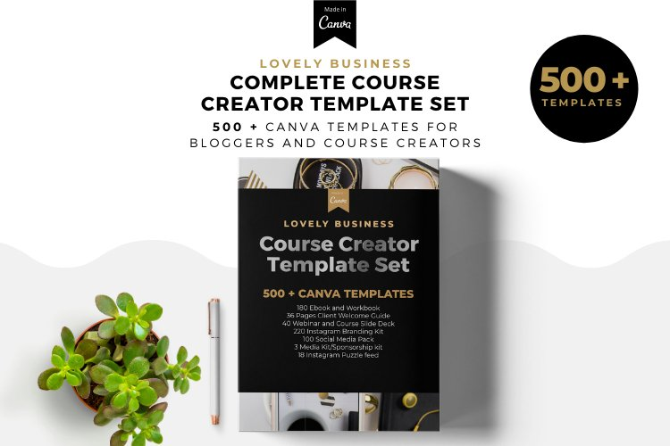 Lovely Business Complete Template Set, Ebook Template Kit example image 1