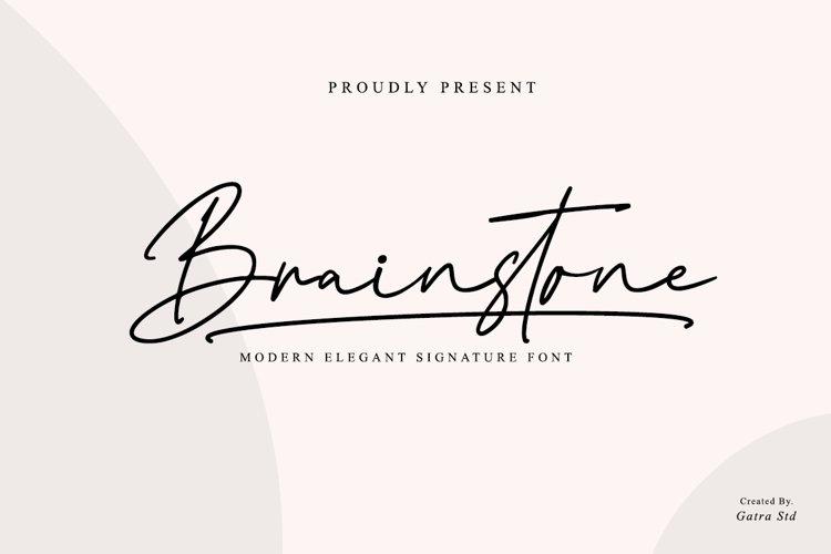 Brainstone Modern Elegant Signature Type example image 1