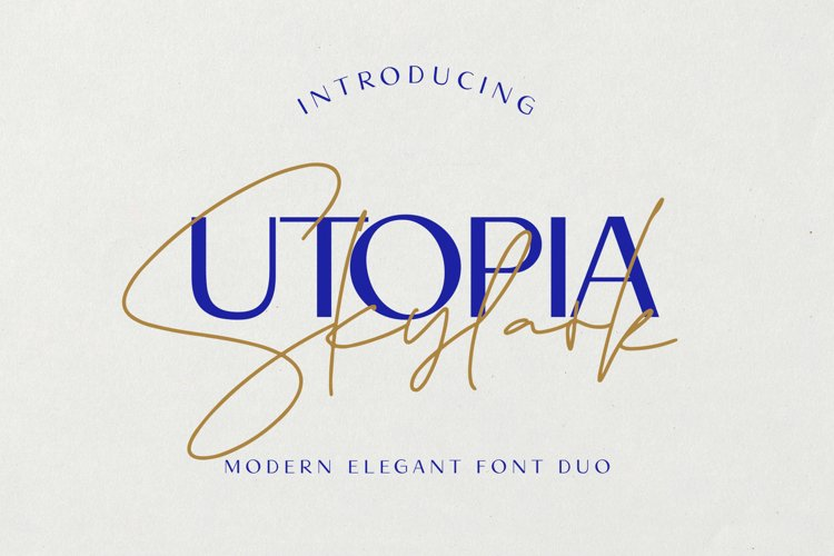 Utopia Skylark - Font Duo example image 1