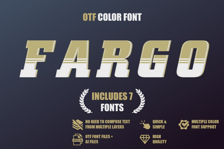 OTF color font - Fargo example image 1