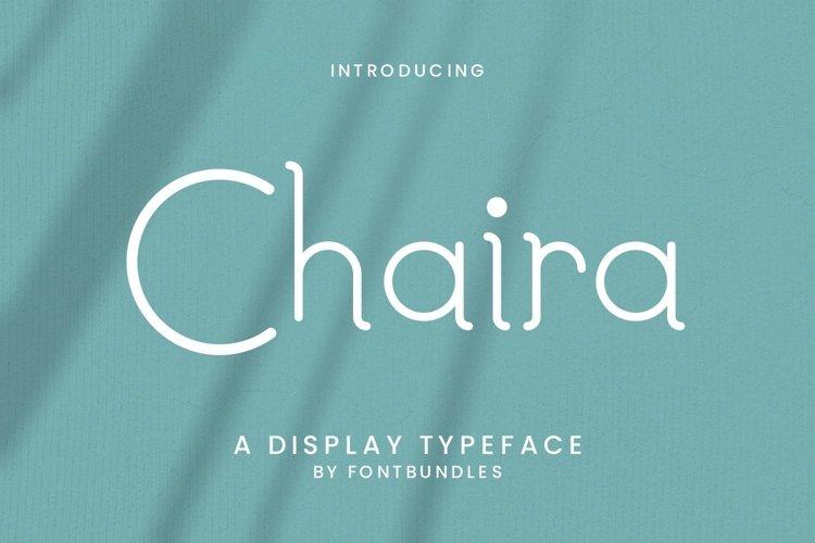 Web Font Chaira