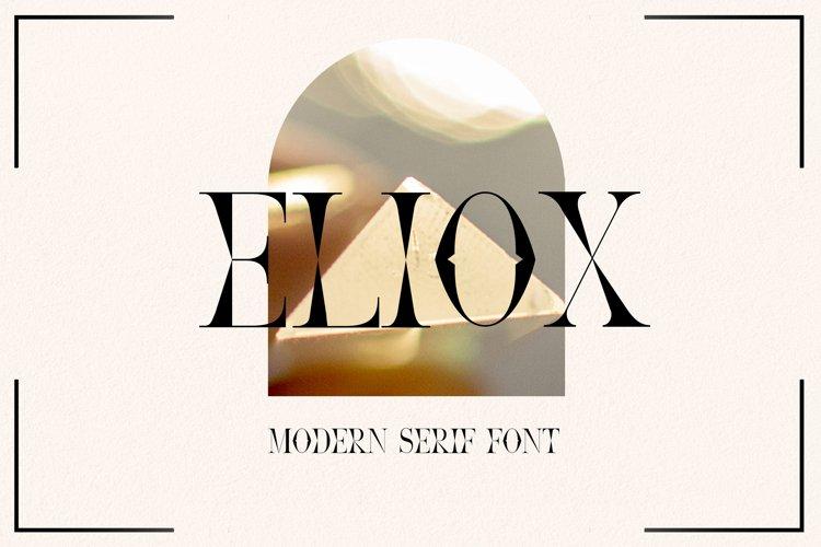 Eliox Modern Serif font example image 1