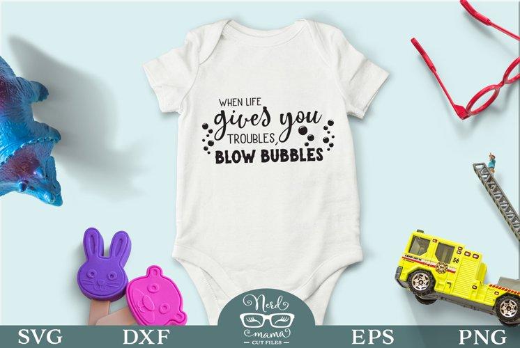 Blow bubbles SVG Cut File