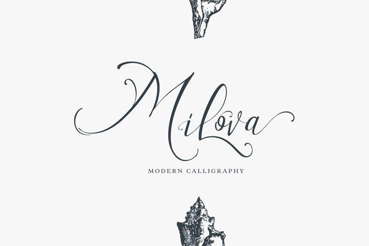 Milova   Modern Calligraphy example image 1