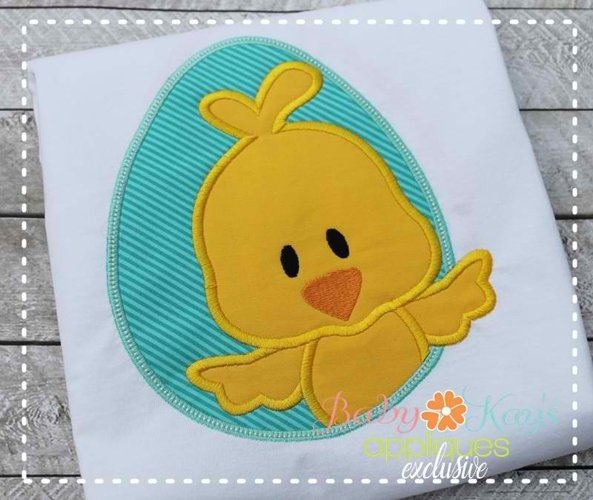 Chick in Egg Frame Boy 4x4, 5x7, 6x10, 8x8