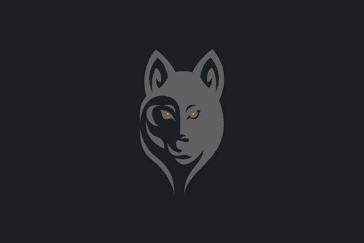 wolf half face logo example image 1