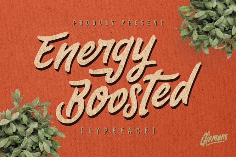 Web Font Energy Boosted Typeface example image 1